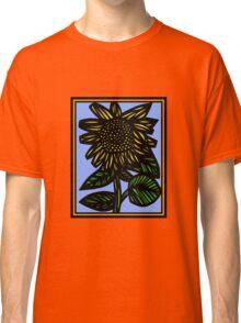 Auburn Flowers Yellow Blue Green Classic T-Shirt