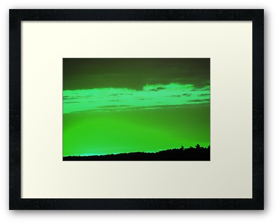 Green Sky -Available As Art Prints-Mugs,Cases,Duvets,T Shirts,Stickers,etc by Robert Burns