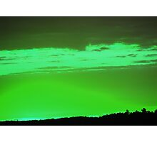 Green Sky -Available As Art Prints-Mugs,Cases,Duvets,T Shirts,Stickers,etc Photographic Print