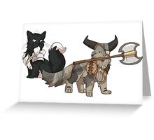 The Catquisition - Blackwall & The Iron Bull Greeting Card
