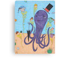 Octopus Tea Party Canvas Print
