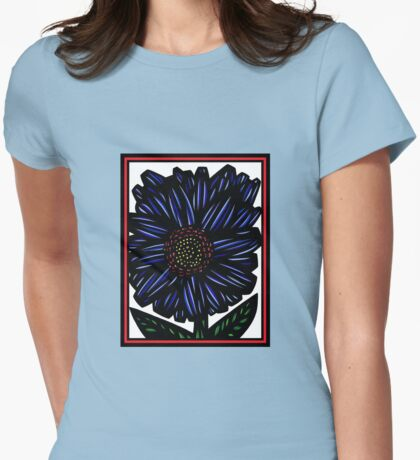 Novae Flowers Red Green Blue Womens Fitted T-Shirt