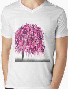 Purple Willow Mens V-Neck T-Shirt