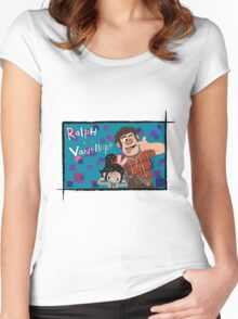 RALPH & VANELLOPE Women's Fitted Scoop T-Shirt
