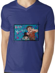 RALPH & VANELLOPE Mens V-Neck T-Shirt