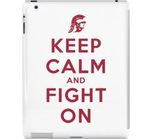 Keep Calm and Fight On (Cardinal Letters) iPad Case/Skin