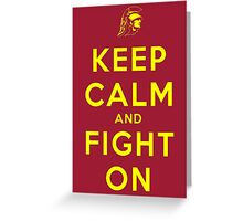 Keep Calm and Fight On (Gold Letters) Greeting Card