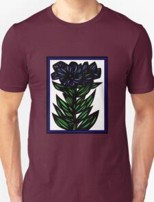 Inundate Flowers Blue Green White Unisex T-Shirt