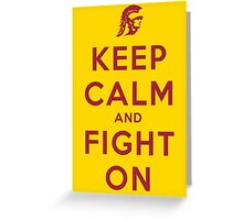Keep Calm and Fight On (Gold iPhone Case) Greeting Card