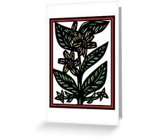 Immure Flowers Yellow Green Red Greeting Card