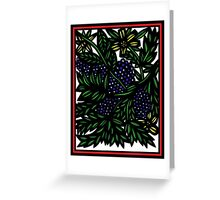 Esclavage Flowers Yellow Blue Green Greeting Card