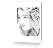 Me in Black and White Greeting Card