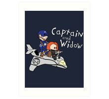 Captain and Widow Art Print