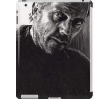 Il kill you... If you want me to - conté drawing iPad Case/Skin