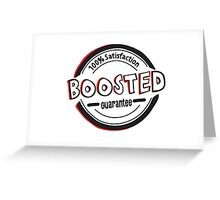 Boosted badge Greeting Card