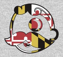 Maryland Flag on Beer Face T-Shirt