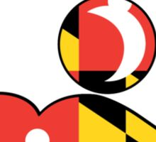 Maryland Flag on Beer Face Sticker