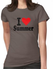 I love summer Womens Fitted T-Shirt