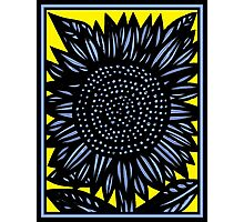 Synecdoche Flowers Yellow Blue Black Photographic Print