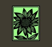 Delitescent Flowers Green Black Womens Fitted T-Shirt