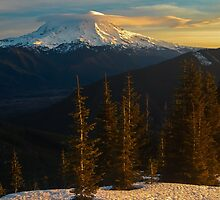 Sunrise View of Mount Rainier by lkamansky