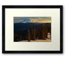 Sunrise View of Mount Rainier Framed Print
