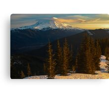 Sunrise View of Mount Rainier Canvas Print