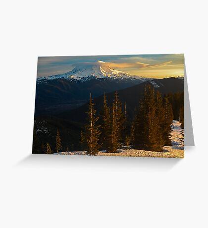 Sunrise View of Mount Rainier Greeting Card