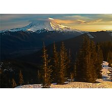 Sunrise View of Mount Rainier Photographic Print
