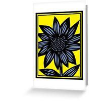 Clandestine Flowers Yellow Blue Black Greeting Card