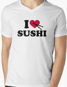 I love Sushi Mens V-Neck T-Shirt