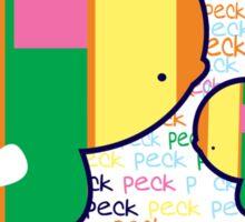 Peck Peck TShirt Sticker