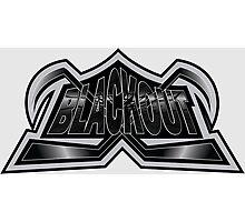Hockey Logo Blackout Photographic Print