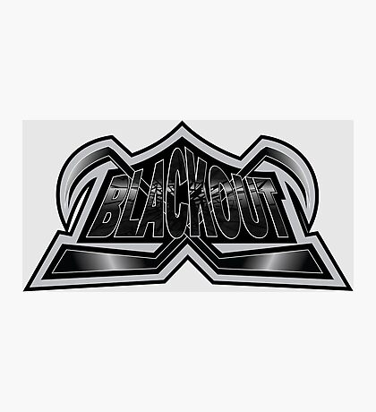 Hockey Logo Blackout Photographic Print