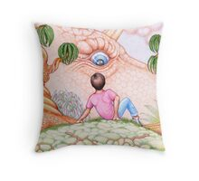 Dreaming of Dragons Throw Pillow