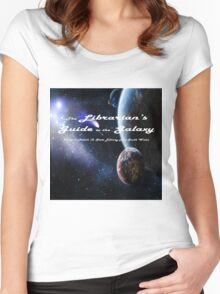 Librarian's Guide to the Galaxy - science and science fiction readers advisory Women's Fitted Scoop T-Shirt