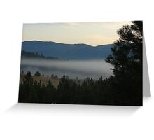 Low Clouds Greeting Card