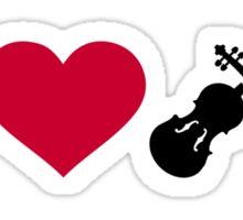 I love Violin Fiddle Sticker