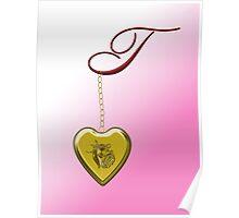 T Golden Heart Locket Poster