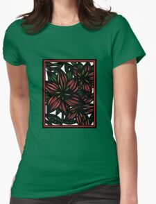 Ethereal Flowers Red Green White T-Shirt