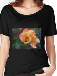 In Dreams - Gorgeous Peach Rose Women's Relaxed Fit T-Shirt
