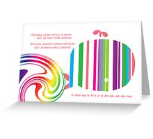 Stripey Whale Greeting Card