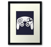 Nintendo GameCube White Framed Print