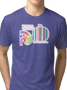 Stripey Whale TShirt Tri-blend T-Shirt