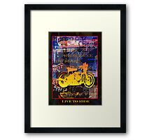 Ride Free Framed Print