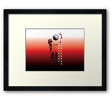 Yin & Yang Dragon Framed Print