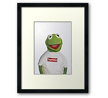 Kermit for Supreme 2 Media Cases, Pillows, and More. Framed Print
