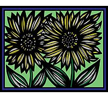 Andante Flowers Yellow Blue Photographic Print
