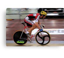 Track Cyclist Canvas Print