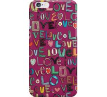 l o v e LOVE pink iPhone Case/Skin
